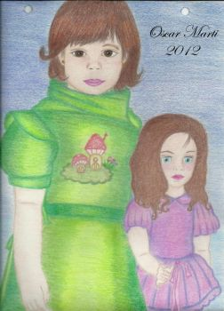 The little girl and her cute doll by brokentiers