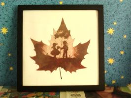 Wall art Leaf engraving Valentine's Day love  by LeafEngraving