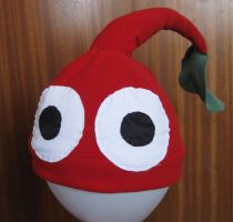 Red Pikmin Hat by thanxforthefish