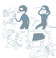 AT-Bunny and Nightwing by CinnamonCoffeeTreats