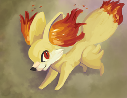 Fennekin by Madame-Clockwork