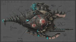 Space Ship Concept by SAG-D