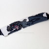Zekrom 1 inch Friendship Bracelet by CarrieBea