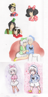 Disney Sketchdump (Humanized mostly) by EsuNeh