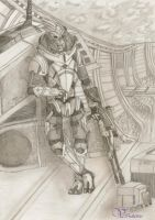 Garrus Vakarian and his favourite spot on Citadel by Vanthica