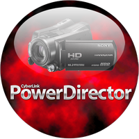 Powerdirector Red Orb Dock Icon by climber07
