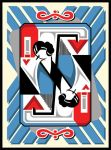 abstract art deco playing card by sesshin