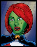 Miss Martian Colored by NinjaSpidey