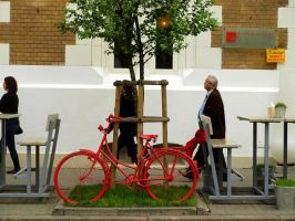 red bicycle by HeretyczkaA