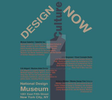 Design Culture Now (Teal) by aemdesigner