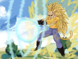 Leek Super Saiya-jin God of Vengeance form by LilRwar
