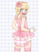 Short Skirted Sissy~ (ABDL/Diaper content) by Pastel-Hime