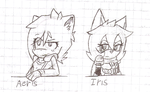 Aeris and Iris -SKETCHES- by ultimatewino