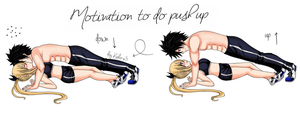 Motivation to do push up [Gray x Lucy] by Kiko-x3