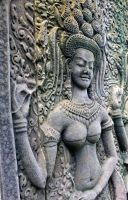 Apsara Bas Relief by redsox1830