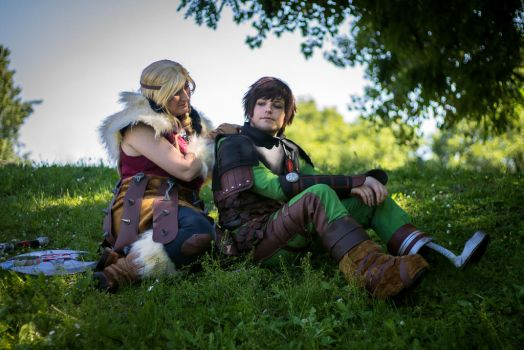 Astrid and Hiccup HTTYD2 by JamieCool