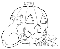 Rat-O-Lantern Lineart by Jammerlee
