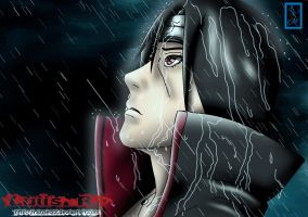 "alone in the rain ""itachi"" by razziel22"