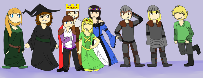 One Big Awkward Medieval Family by EndlessCartoon