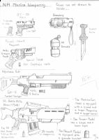 NA Marine's Standard Weaponry by Blak-Dragon-Boy