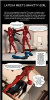 Latexa meets GravityGirl by phoenixbird