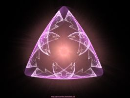 Fractal - Pink Triangle by Lynx-Pardina