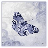 Butterfly in Blue by Sarahorsomeone
