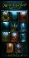 Dark Garden backgrounds by moonchild-ljilja