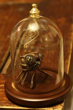 Steampunk Spider Christmas Ornament in Glass Dome by CatherinetteRings