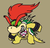 Giga bowser jr redone by Mykthecartoonist