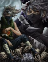 Kakashi young and old by HeirOfGlee