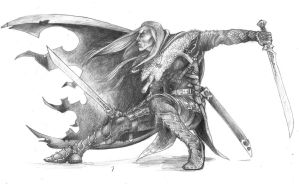 Drizzt Do'Urden by DreddaBrutallac