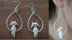 Kyubey Dangly Earrings by KittyAzura