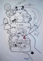 The Generation Of The Hungry Smartphones by wilyamiyoo
