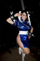 Chun Li Eurobeat King 2 by DustbunnyCosplay