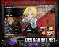 Edward Elric Theme Windows 7 by Danrockster
