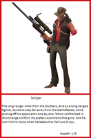 TF2 Trading Card: Sniper by UltimaWeapon13