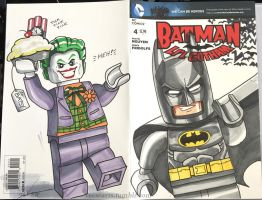 Lego Batman Joker comic sketch cover commission by DanVeesenmeyer