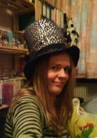 me and my new year hat by Herure