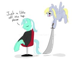 How not to cut hair by Xephire