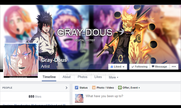 My Facebook page by Gray-Dous