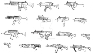 Jess weapons designs by FrancoTieppo