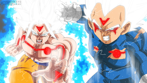 Omni Goku and Royal Omni Vegeta by Mitchell1406