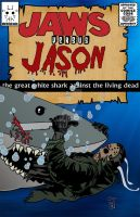 Jason versus Jaws comic book by ibentmywookiee