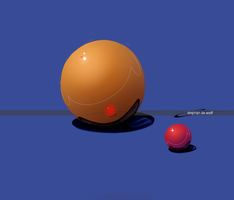 Sphere Orange by w0lfb0i
