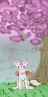 amaterasu puppet under tree by LadyMartina