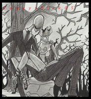 Old SlendermanXScarlet drawing.. by Cageyshick05