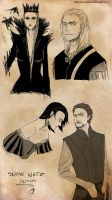 Avengers-slash:snow white version Loki-Thor by chevalier-elyam