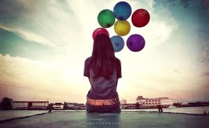 alone with baloon by aNdikapatRya