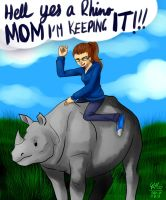 Renee and her Rhino by Gresta-GraceM